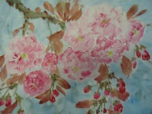 Cherry Flower Waterclor Painting